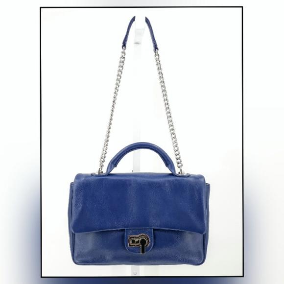 Charles Jourdan Vogue Top Flap Leathe Shoulder Bag